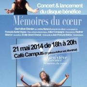 Affiche du lancement du disque Mémoires du cœur